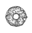 dotwork sweet donut vector image