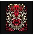 dragon ryu esport mascot logo design vector image vector image