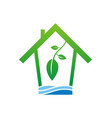 eco house clean water logo vector image vector image