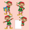 elf christmas character vector image vector image