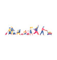 flat people going on vacation isolated on white vector image vector image