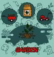 Garden flat concept icons
