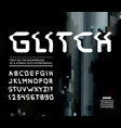 glitch font vector image vector image