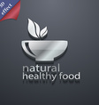 healthy food concept icon symbol 3D style Trendy vector image