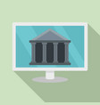internet bank building icon flat style vector image vector image