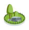 isometric green garden vector image vector image