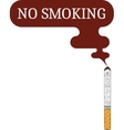 label o smoking sticker vector image