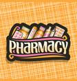 logo for pharmacy vector image