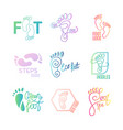 logo of center of healthy feet vector image vector image