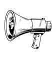 loudspeaker in comic style vector image