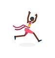 male runner black running athlete vector image