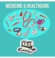 Medicine sketch design vector image vector image