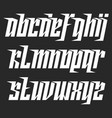 modern lowercase italic font with movement vector image