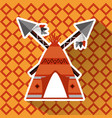 native american teepee and cross spears weapon vector image vector image