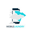 online mobile laundry logo design vector image vector image