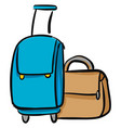 packed suitcases vector image