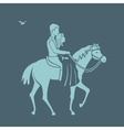 Pair rides a horse vector image vector image