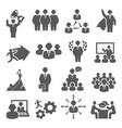 people icons set isons for teamwork vector image vector image