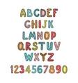 positive colorful alphabet for children vector image