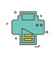 printer icon design vector image