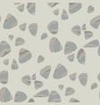 river pebbles grey seamless pattern vector image vector image