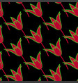 seamless floral pattern with red tulip flowers vector image vector image
