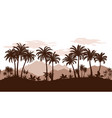 seamless landscape palms vector image vector image
