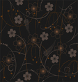 seamless pattern - wallpaper vector image vector image