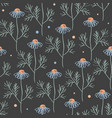 Seamless pattern with chamomile branches