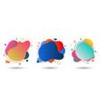 set fluid colorful gradient shape on white vector image vector image