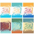 set hand drawn vintage posters with quote about vector image