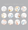 set highlight covers abstract backgrounds vector image vector image