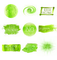 set of watercolor green logo vector image vector image