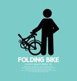 Single Folding Bike Graphic vector image vector image