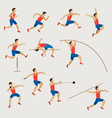 Sports Athletes Track and Field Men Set vector image vector image