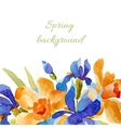 spring background watercolor lowers vector image vector image