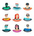superhero avatars collection vector image vector image