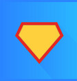 superhero icon modern and flat logo figure vector image