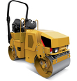 Tandem vibratory roller vector image