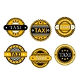 Taxi service emblems and signs vector image