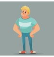 Teen power strong man boy Funny cartoon vector image vector image