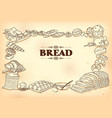 template different types bread and loafs for vector image vector image