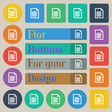 Text file icon sign Set of twenty colored flat vector image vector image