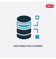 two color data analytics cylinder icon from user vector image vector image
