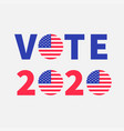 vote 2020 red blue text badge button icon vector image vector image