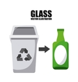 waste concept design vector image vector image