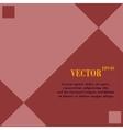 web design a flat geometric background message vector image