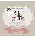 Wedding invitation tandem bicycle vector image vector image