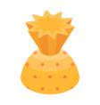 yellow truffle icon isometric style vector image vector image