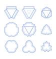 set of monogram geometric frames vector image
